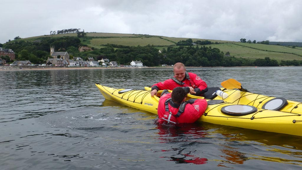 sea kayaking scotland rescue