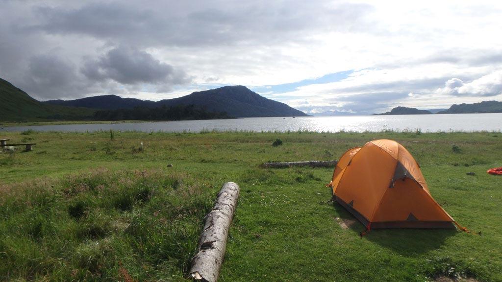 inverie campsite