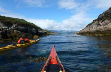 Sea kayaking at Raasay