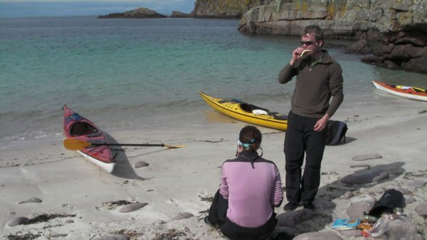 Sea Kayaking Lunch Break