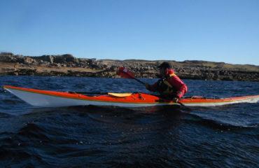 Sea kayaking near Isle Ristol