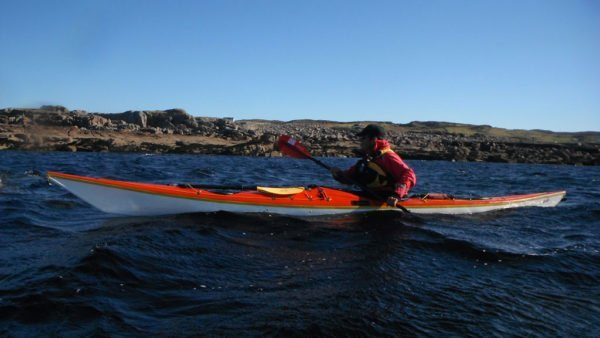 Sea kayaking near Isle Ristol