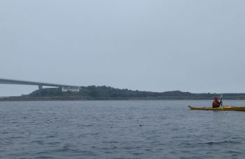 misty sea kayaking