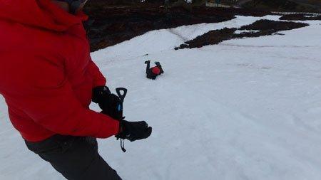 Winter skills course - ice axe arrest