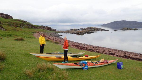 packing sea kayaks scotland