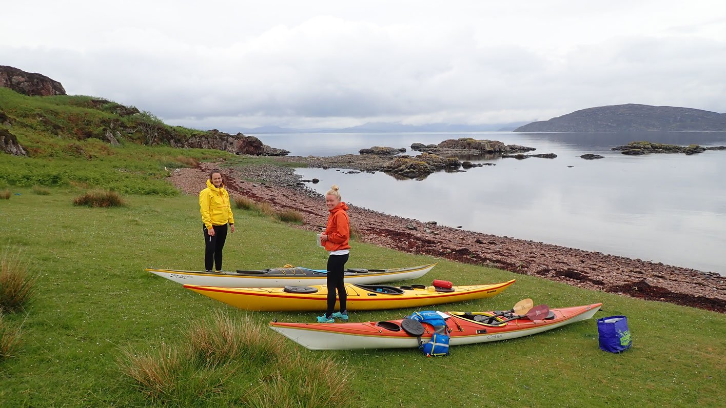 packing sea kayaks scotland