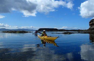 Sea kayaking near Elgol