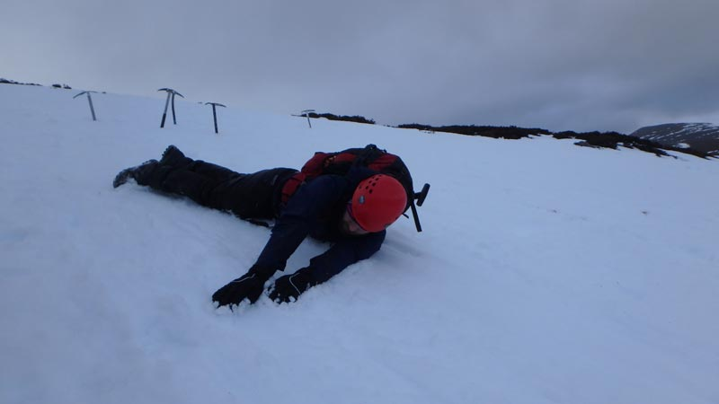 self-arrest without ice axe