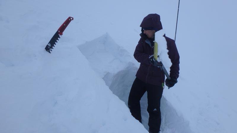Digging Snowhole