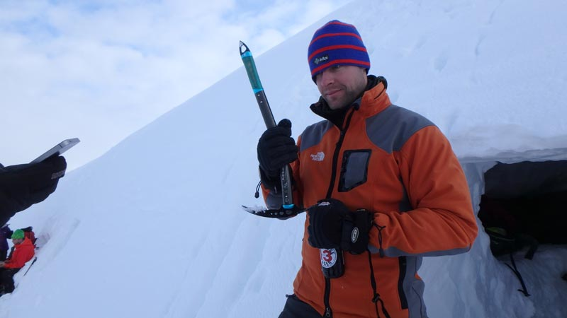 Open beer with ice axe