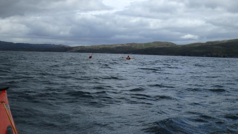 sea kayaking swells