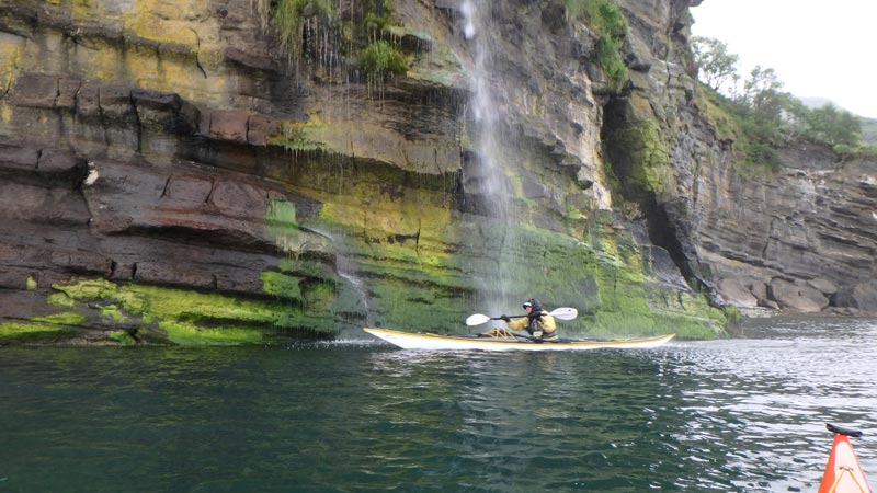 sea kayak Raasay waterfall