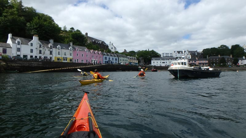 Sea kayaking Portree