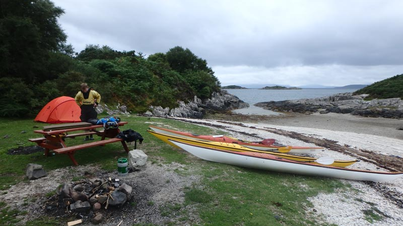 Camping at Port Lunge