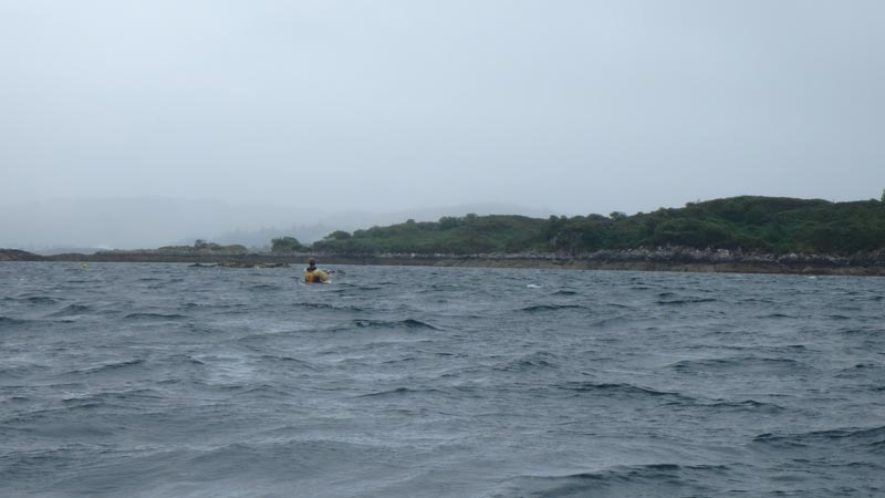 sea kayaking near Kyle