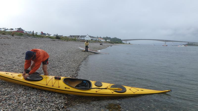 Launching kayaks in Kyleakin