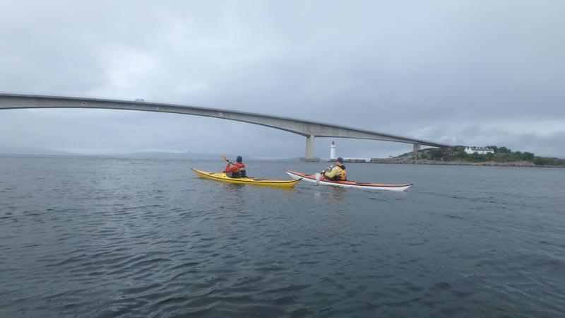 sea kayaking Skye Bridge