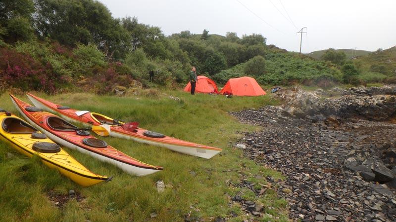 Camping near Kyleakin