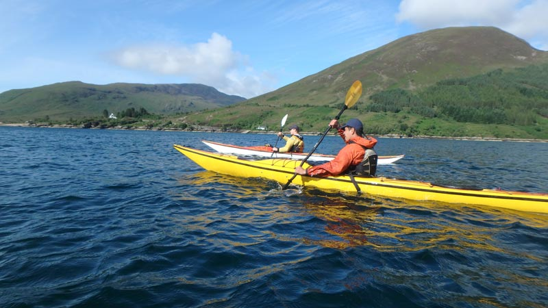 Sea kayaking Kylerhea