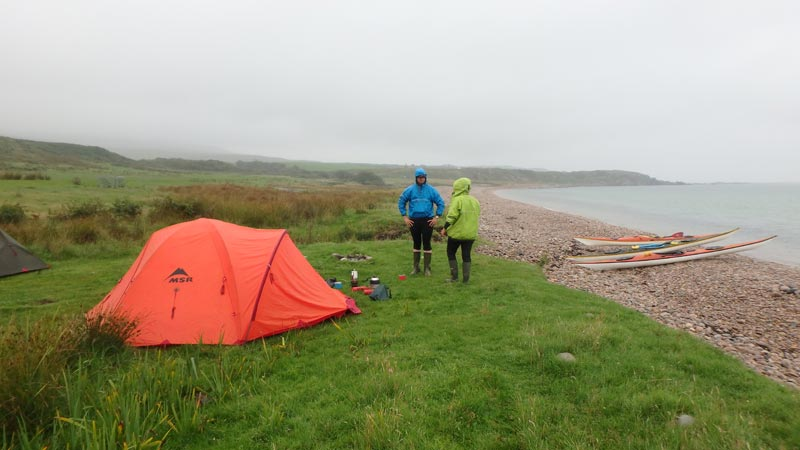 Camping near Claggain Bay