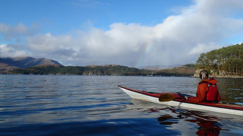 sea kayaking rainbow